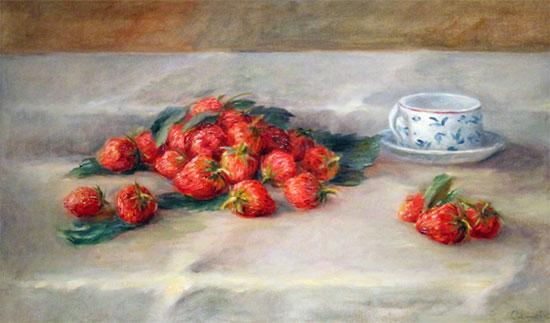 Las fresas que son fresones y Renoir