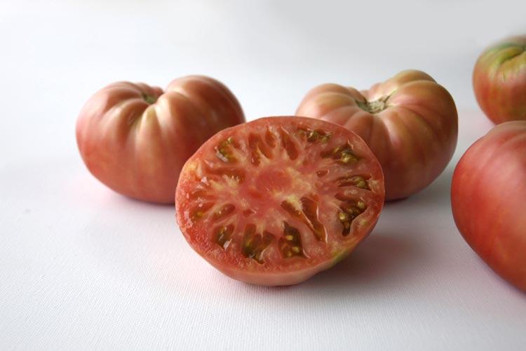 tomate rosado bodegón