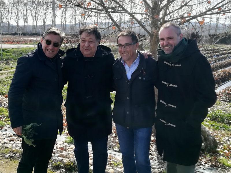 De izq. a drcha: Joan Roca, Juan Carlos Ramírez Panadero, Fernando Alcázar y Rodrigo de la Calle.